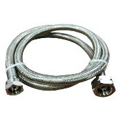 Stainless Steel Braided Pigtail 500mm Butane Nut x W20